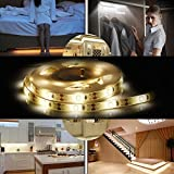 Under Bed Light,ALED LIGHT Led Strips Rope Light Kit with Motion Sensor for Baby, Crib, Bedside, Stairs and Cabinet (4 AAA Batteries Operated, Not Included) (2PACK)