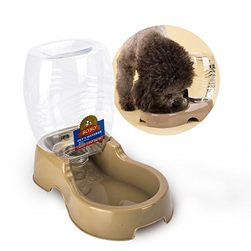 Cat Water Dispenser, TIOVERY Automatic Pet Cafe Pet Waterer Food Dish Bowl Feeder Tray for Dogs and...