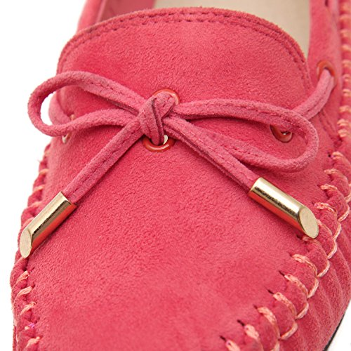 Loafer Shoes D2C on Slip Moccasin Women's Beauty Bow Red qngXxH4w