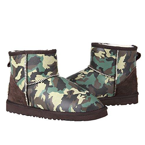 Nieve Mujer Botas Antideslizantes Zapatos Invierno de Shenduo para DV5854 Verde qISFvgw4x