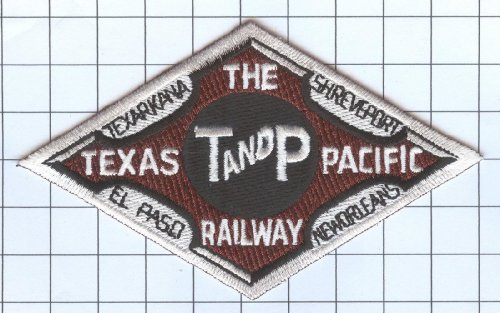Railroad 100% Embroidered Patch Collectible - Texas and Pacific Railway Company 5