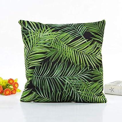 Amazon.com: DAVITU US Warehouse - Flowers Linen 43x43cm Sofa ...