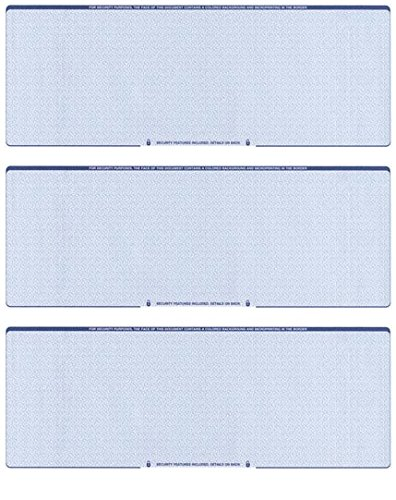 Blank Checks Paper Stock-Checks 3 On A