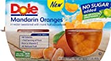 Dole Fruit Bowls, Mandarin Oranges in Water, 4 Cups (Pack of 6)