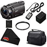 Sony 4K HD Video Recording FDRAX33 Handycam Camcorder-Essential Bundle w/Accessories