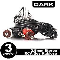 Dark DK-CB-AURCAX35L300 3 m 3.5 mm - RCA Stereo Ses Kablosu