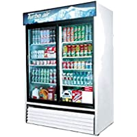 Refrigerated Merchandiser, Two-section, 48 Cu. Ft., Self-contained, Double Pane Low-e Self-closing Sliding Glass Doors, Led Interior & Canopy Lighting,