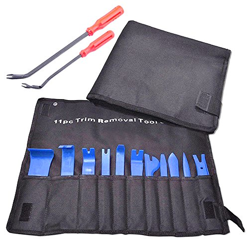 MotorFansClub Auto Trim Removal Tool Kit with Set of 13 Pcs for Automotive Interior Audio Equipment Repair and Furniture Restoration