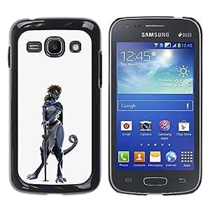 All Phone Most Case / Oferta Especial Duro Teléfono Inteligente PC Cáscara Funda Cubierta de proteccion Caso / Hard Case Samsung Galaxy Ace 3 // Dinosaur Warrior Woman