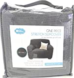 DINY Home & Style Arm Chair Cover 1-Piece Polyester Spandex Fabric Stretch Slipcover (Grey)