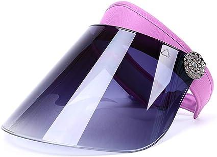 Jennles Unisex Plastic Visor Sun Hat Adjustable Sports Sunvisor Outdoor Summer Cap