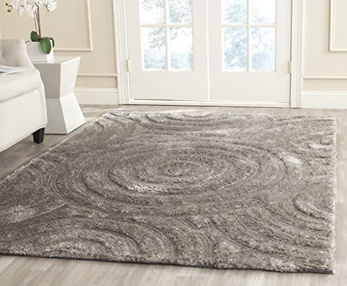 Safavieh South Beach Collection SBS620B Handmade Silver Polyester Area Rug 8' x 10'