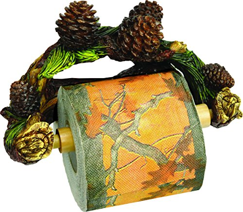 Rivers Edge Pinecone Wall Mount TP Holder