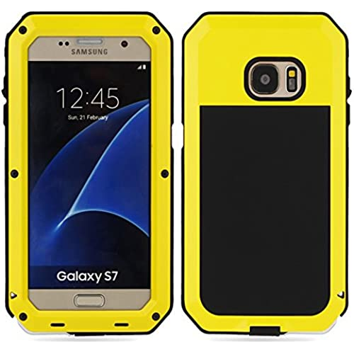 Samsung GALAXY S7,SEISMIK Shockproof Dustproof Waterproof Aluminum Alloy Metal Gorilla Glass Cove Case For Samsung GALAXY S7 (yellow) Sales