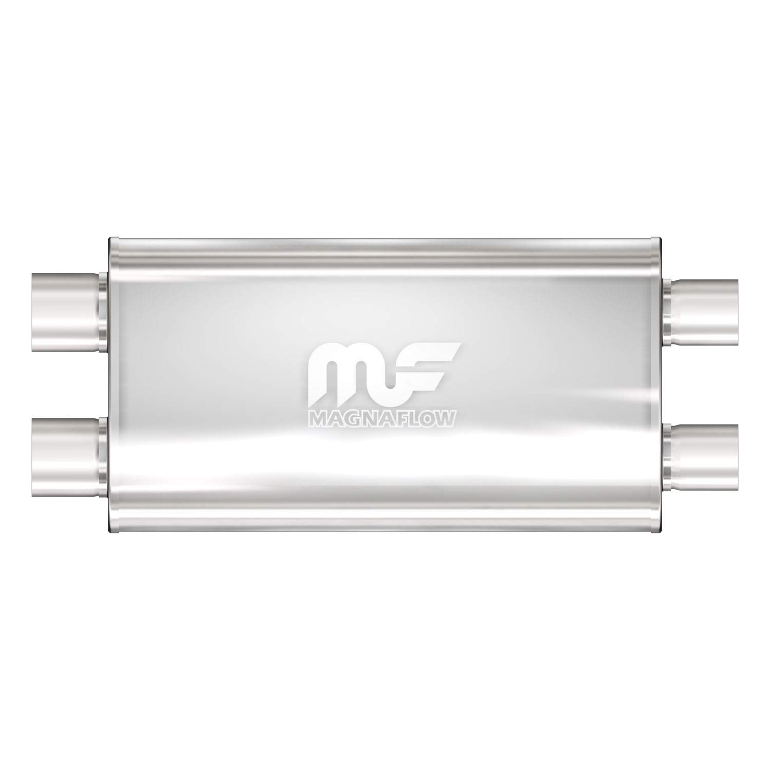 Magnaflow 12599 Satin Stainless Steel 3' Dual Oval Muffler MagnaFlow Exhaust Products