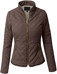 Amazon.com: Brown - Quilted Lightweight Jackets / Coats Jackets