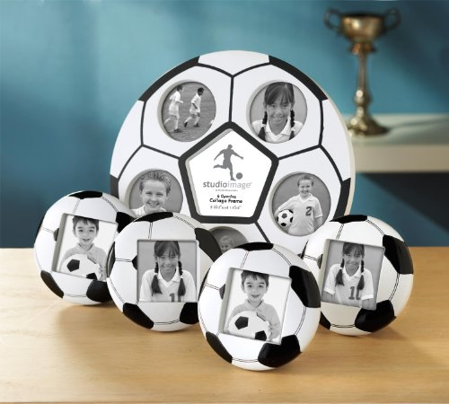 Studio Silversmiths 5 Piece Soccer Photo Frame Set by Studio Silversmiths