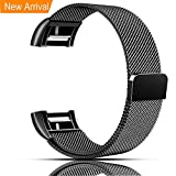 Fitbit Charge 2 Bands, Vancle Adjustable Milanese Loop Stainless Steel Metal Band Bracelet
