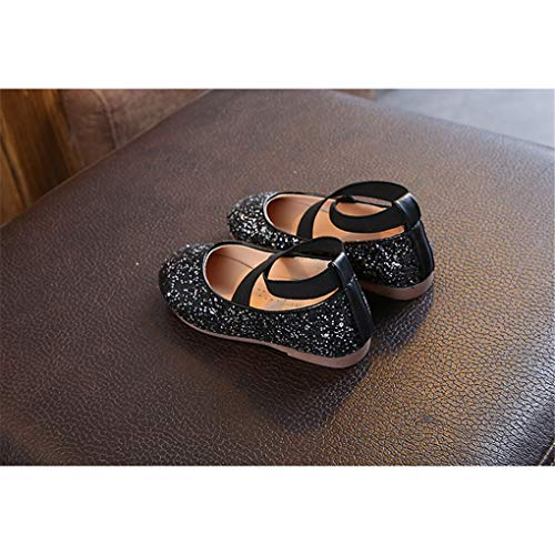 Shiny Sequins Dance Ballet Flats Slip On Princess Dress Shoes