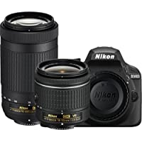 Nikon D3400 DSLR Camera with AF-P DX NIKKOR 18-55mm f/3.5-5.6G VR and AF-P DX NIKKOR 70-300mm f/4.5-6.3G ED (Certified Refurbished)