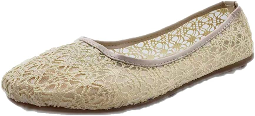 SUNNY Store Womens Flat Shoes Slip On Ballet Flats Comfortable Leather Square Toe Casual Loafer