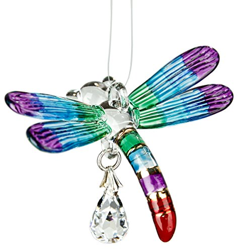 Woodstock Chimes CDRAI Rainbow Makers Crystal Suncatchers Fantasy Glass Dragonfly, Summer
