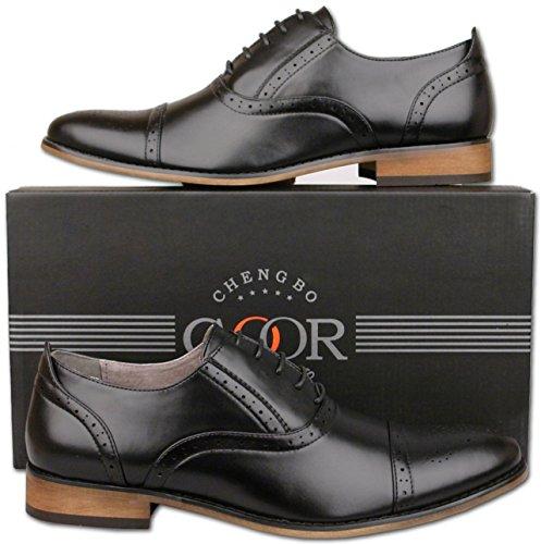 Mr homme Noir Mr Shoes Shoes Richelieu 8RPq0q