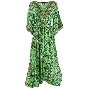 Guru-Shop, Abito Kimono, Kimono Boho, Cappotto Kimono, Dimensione Indumenti:38, Abiti Midi Lunghi