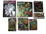 Teenage Mutant Ninja Turtle Activity Gift Bundle - (1) 48pc Puzzle, (1) Fruit Snack, (1) Calendar, (1) Velvet Coloring Sheet, (1) Water Squirter, (1) Pinball Game & (1) Gummy Pizza Candy - (7 Items)