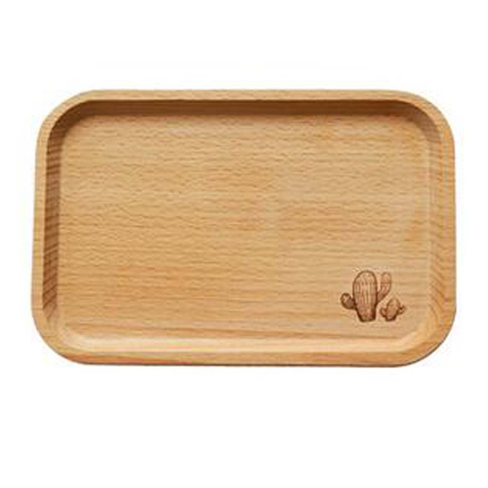 Practical Plate Dried Snacks Dish Cute Dessert Trays Wooden Fruit Plates PANDA SUPERSTORE PS-HOM678547011-HANK00324