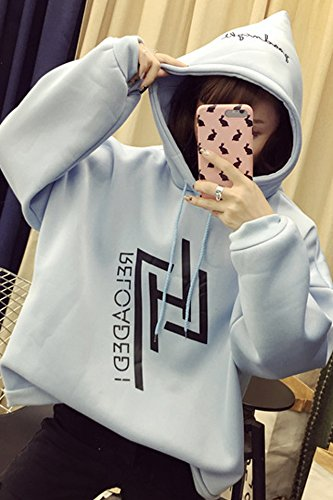 2018 autumn and winter hooded sweater female Korean student influx wide prednisone plus thick velvet headband hoodie sweater sets for women girl