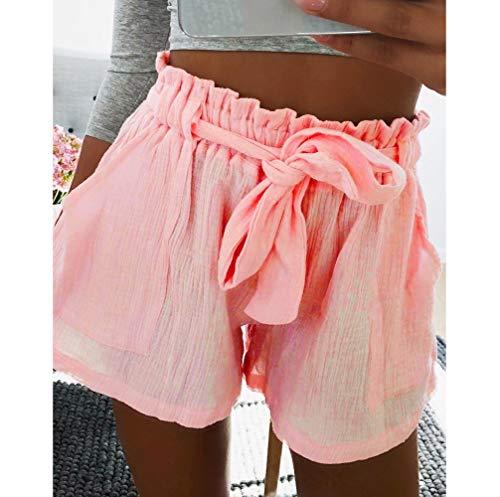 18dfe81e5547 Btruely-Shorts Damen Sommer Kurze Hosen Damen Lässige Design Hohe Taille  Lose Modische Shorts Frau mit Gürtel  Amazon.de  Sport   Freizeit