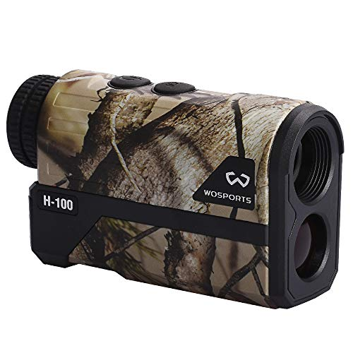 Wosports Hunting Range Finder, Upgraded Battery Cover - Laser Rangefinder Archery Bow Hunting Ranging, Flagpole Lock, Speed - Free Battery (1000 Yards)