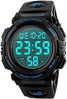 腕時計 メンズ デジタル スポーツ 50メートル防水 おしゃれ 多機能 LED表示 アウトドア 腕時計
