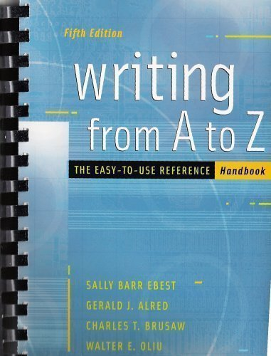 Writing from a to Z : The Easy-To-Use Reference Handbook