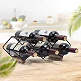 KINGRACK Tabletop Wine Rack, 5 Bottle Wine Holder