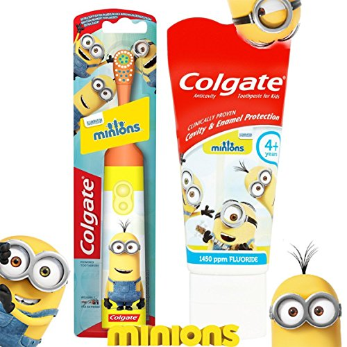 Colgate Minions Battery Toothbrush In Orange With Minion Toothpaste Orange Toothbrush