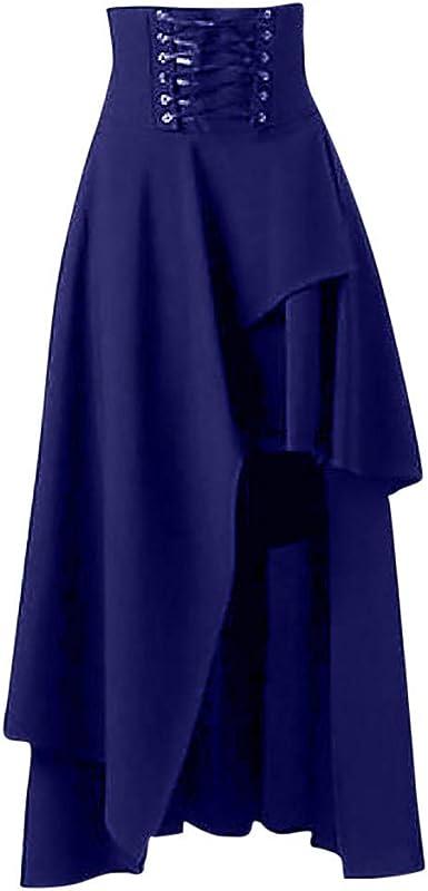 beautyjourney Falda Larga de Fiesta Vintage para Mujer Falda ...