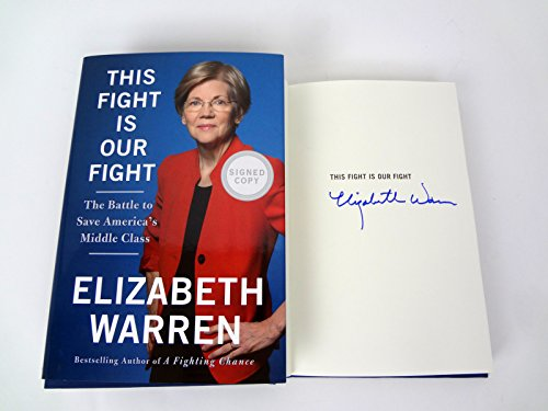 Elizabeth Warren Signed Autograph This Fight Is Our Fight 1st Edition Book COA