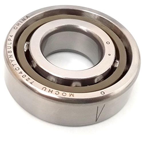 20mm Metric Ball Bearings - MOCHU 7204 7204C 7204CTYNSULP4 20X47X14 ABEC-7 Angular Contact Ball Bearing CNC 15° Contact Angle Universal Arrangement Metric