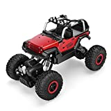 POBO RC Cars 1/18 Remote Control Off-Road Metal Shell Vehicle 2.4GHz 4WD Monster Truck Rock Climber High Speed Electric Racing Buggy with LED Light