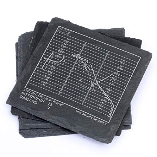 Greatest Steelers Plays - Slate Coasters (Set of 4)