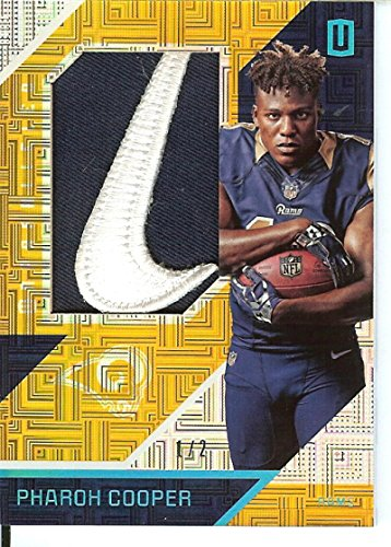 Football NFL 2016 Unparalleled RPS Rookie Materials Brand Logo #26 Pharoh Cooper MEM 1/2 LA Rams by unparalleled