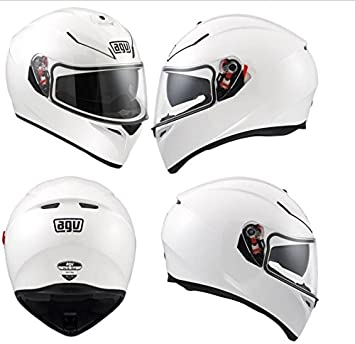Casco de Moto Integral AGV K-3 SV talla ML 58 colores blanco brillante Neuf