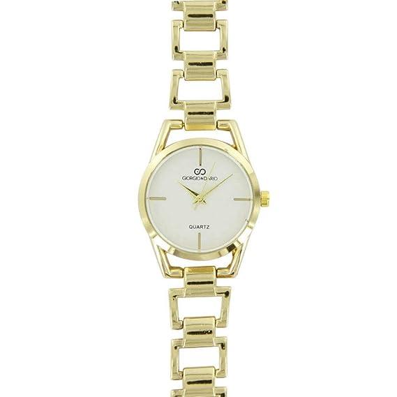 Reloj Fantasía para Mujer Acero Dorado Gorgio  Amazon.es  Relojes 6f05fa6cfa01