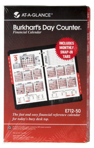Burkharts Day Counter Refills (AT-A-GLANCE Burkhart's Day Counter Recycled Desk Calendar Refill, 5 x 8 Inches, 2012 (E712-50))
