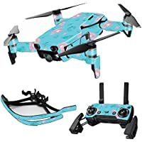 MightySkins Skin for DJI Mavic Air Drone - Water Flowers | Max Combo Protective, Durable, and Unique Vinyl Decal wrap cover | Easy To Apply, Remove, and Change Styles | Made in the USA