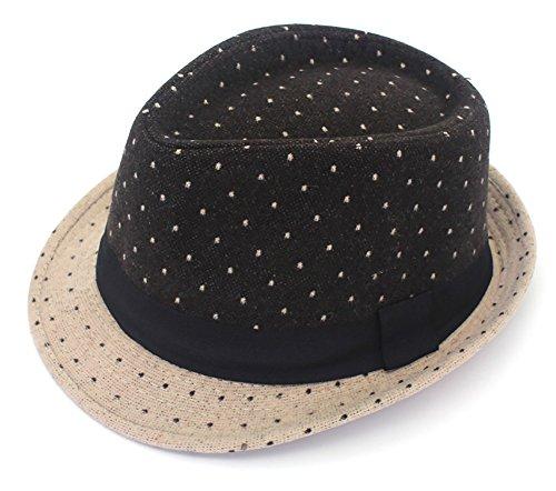 Men's Classic Fedora Hat Short Brim woollen Felt Hat Panama Hat Jazz cap (Irish Gangster Costumes)