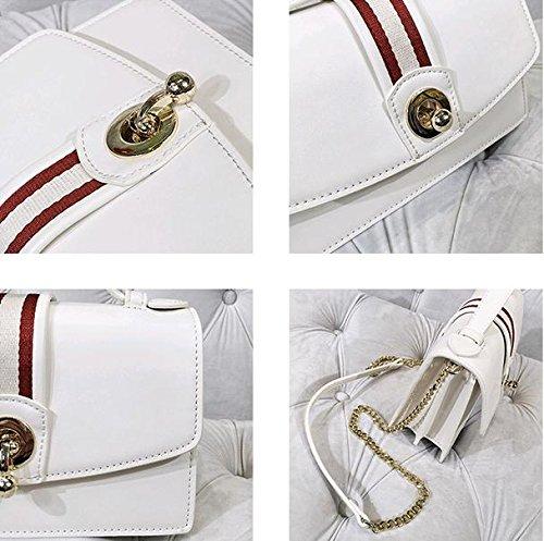 Femelle épaule Couleur Sac Mode Sacs Simple Messenger Contrastée Portable Locker Stripe Bag SHTBO C6wq5fq