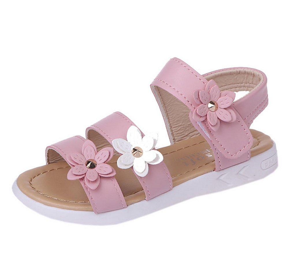 Vokamara Big Girls Fashion Strap Sandals Summer Shoes X-Pink 29